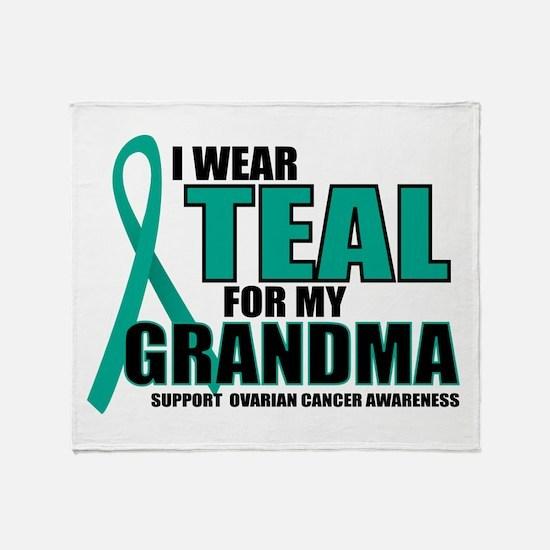OC: Teal For Grandma Throw Blanket