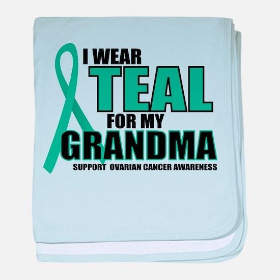 OC: Teal For Grandma baby blanket