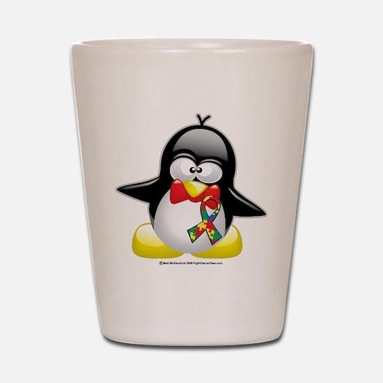 Autism Penguin Shot Glass