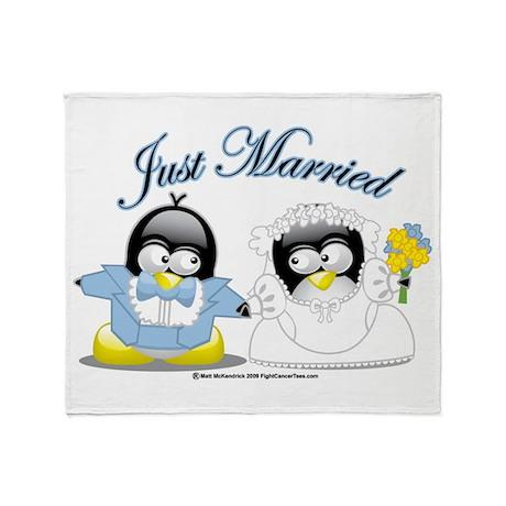 Penguin Wedding Throw Blanket