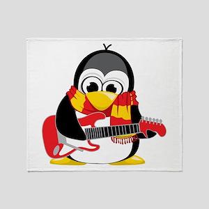 Electric Guitar Penguin Scarf Throw Blanket