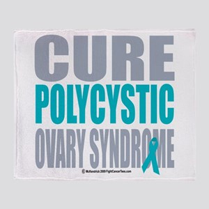 Cure PCOS Throw Blanket
