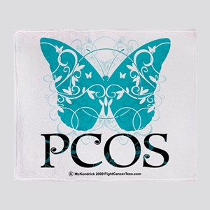 PCOS Butterfly Throw Blanket