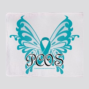 PCOS Butterfly & Ribbon Throw Blanket