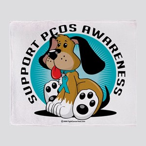 PCOS Dog Throw Blanket