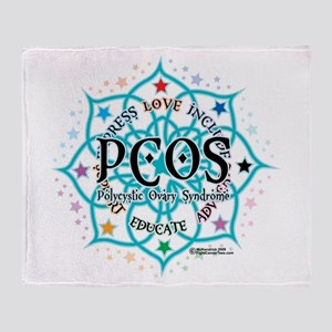 PCOS Lotus Throw Blanket