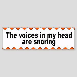 snoring... Bumper Sticker