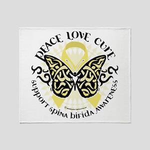Spina Bifida Butterfly Tribal Throw Blanket