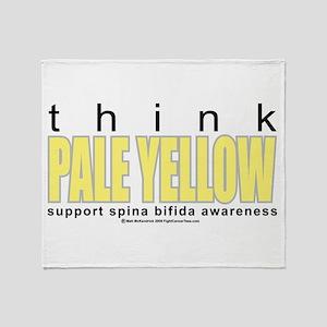 Spina Bifida Think Pale Yello Throw Blanket