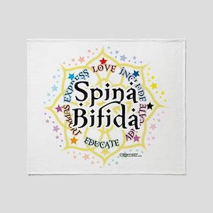 Spina Bifida Lotus Throw Blanket