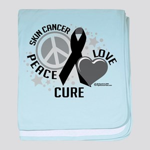 Skin Cancer PLC baby blanket