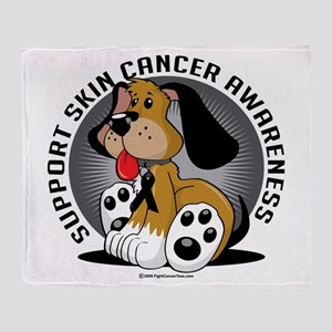 Skin Cancer Dog Throw Blanket