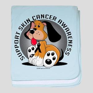 Skin Cancer Dog baby blanket