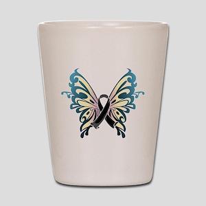 Skin Cancer Butterfly Shot Glass