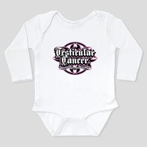 Testicular Cancer Tribal Long Sleeve Infant Bodysu