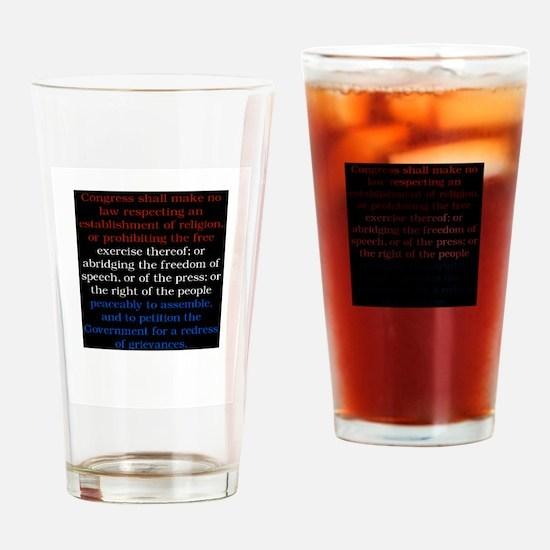 Cute Civil liberties Drinking Glass