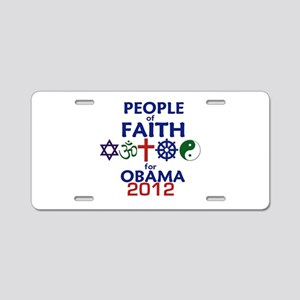 Obama Faith 2012 Aluminum License Plate