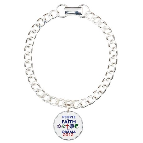 Obama Faith 2012 Charm Bracelet, One Charm