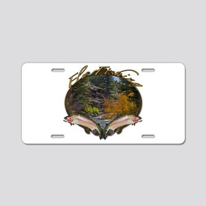 Fly fishing Aluminum License Plate