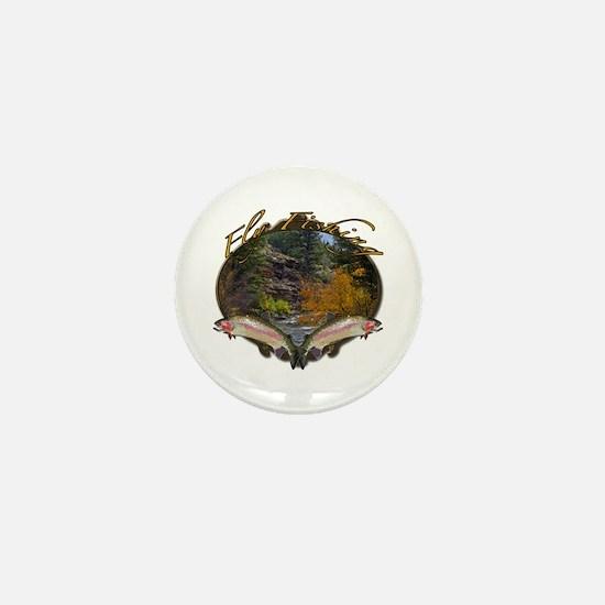 Fly fishing Mini Button