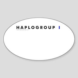 Haplogroup I Oval Sticker