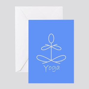 Yoga in Baby Blue Greeting Card