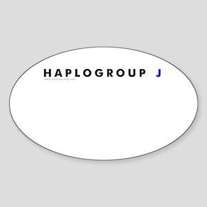 Haplogroup J Oval Sticker