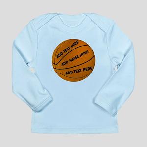Basketball Long Sleeve Infant T-Shirt