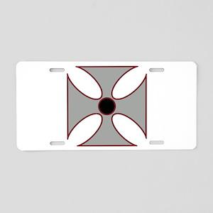 Iron Cross Aluminum License Plate