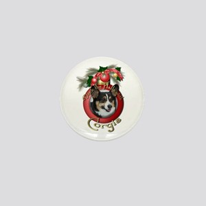 Christmas - Deck the Halls - Corgis Mini Button