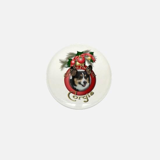 Christmas - Deck the Halls - Corgis Mini Button
