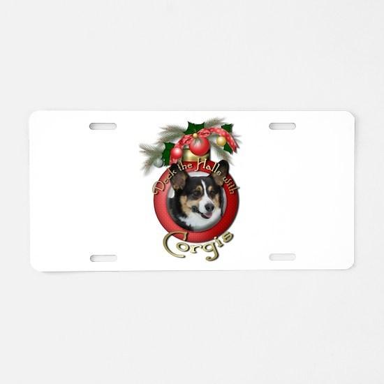 Christmas - Deck the Halls - Corgis Aluminum Licen