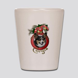 Christmas - Deck the Halls - Corgis Shot Glass