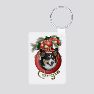 Christmas - Deck the Halls - Corgis Aluminum Photo