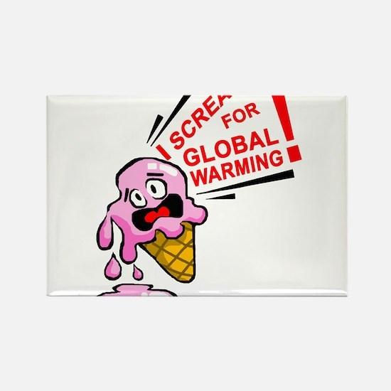 I scream for global warming! Rectangle Magnet