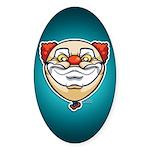 The Clown Sticker (Oval 10 pk)