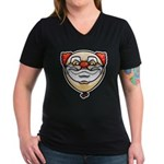The Clown Women's V-Neck Dark T-Shirt