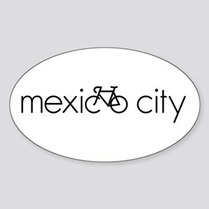 Bike Mexico City Sticker (Oval)