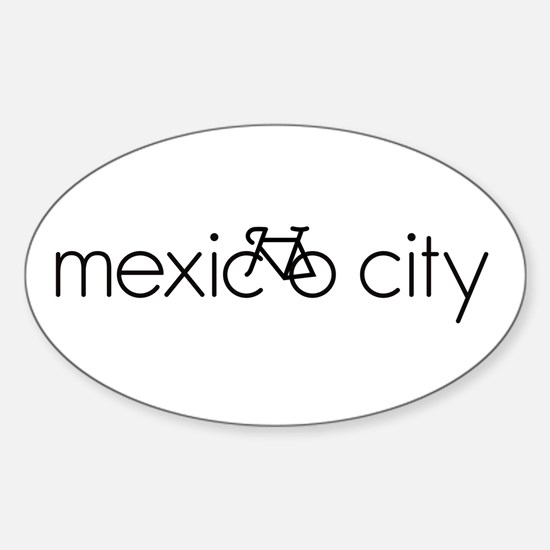 Bike Mexico City Sticker (Oval)