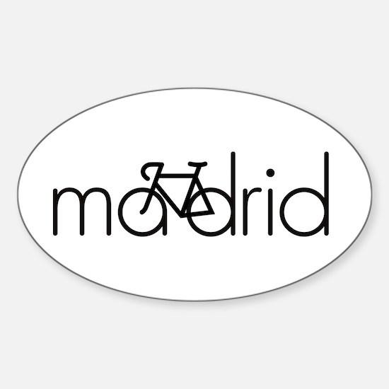 Bike Madrid Sticker (Oval)