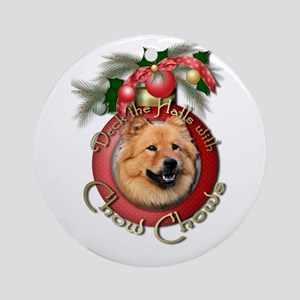 Christmas - Deck the Halls - Chows Ornament (Round
