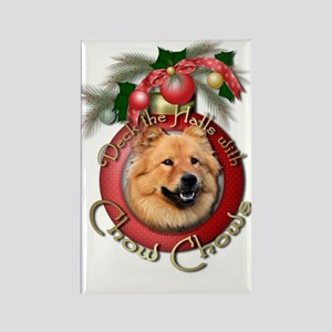 Christmas - Deck the Halls - Chows Rectangle Magne