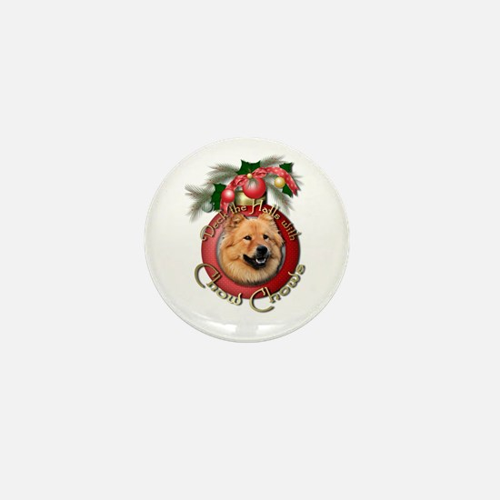 Christmas - Deck the Halls - Chows Mini Button