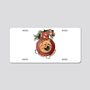 Christmas - Deck the Halls - Chows Aluminum Licens