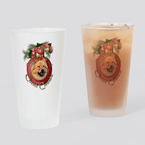 Christmas - Deck the Halls - Chows Drinking Glass