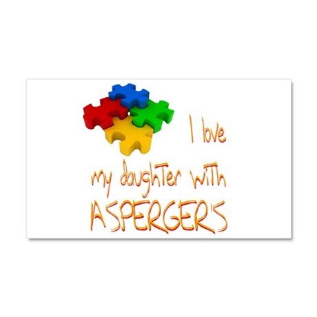 Asperger's daughter Car Magnet 20 x 12