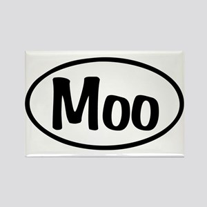 Moo Oval Rectangle Magnet