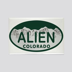 Alien Colo License Plate Rectangle Magnet