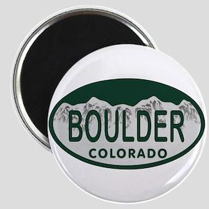Boulder Colo License Plate Magnet