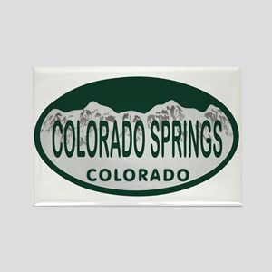 Colorado Springs Colo License Plate Rectangle Magn